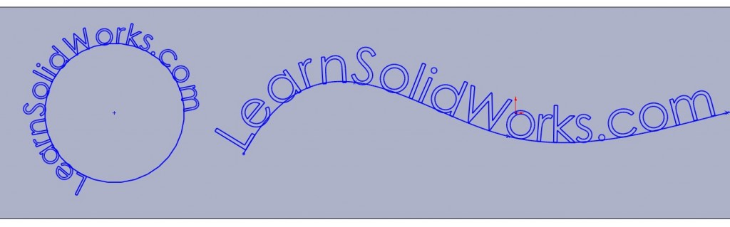 Text Curve 1024x319 How to Draw a Text in SolidWorks?