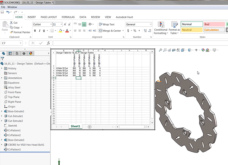 Solidworks Design Table Tutorial Pdf | Elcho Table