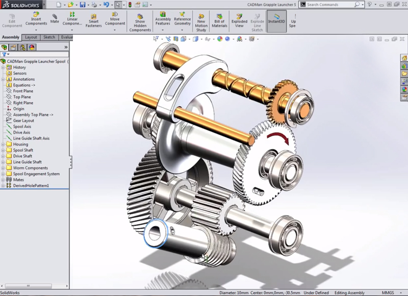 SolidWorks Gear and Path mates | LearnSOLIDWORKS com