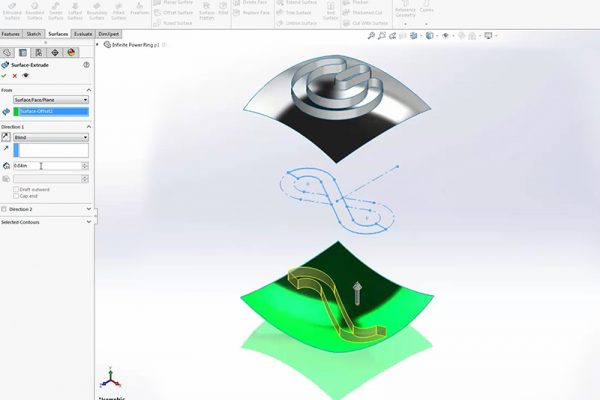 Video 2 SolidWorks Ring tutorial
