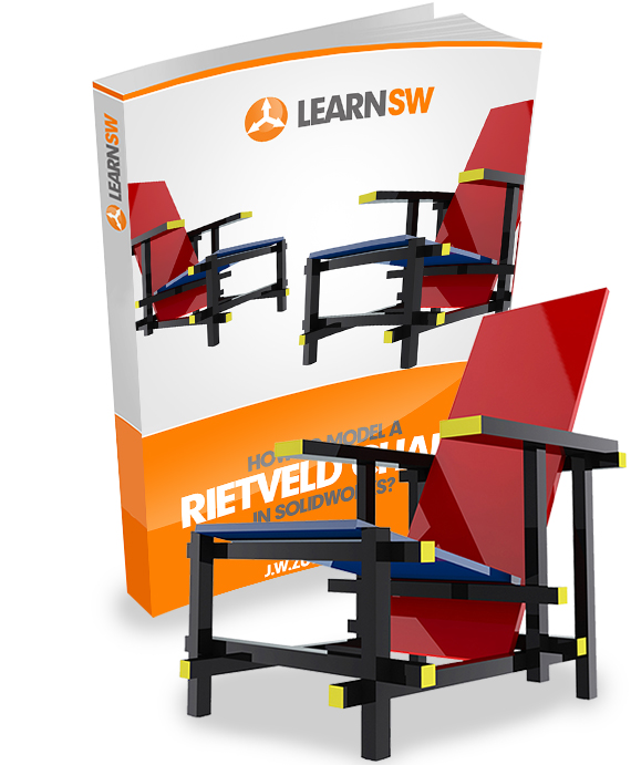 rietveld chair How to Model a Rietveld Chair in SolidWorks?