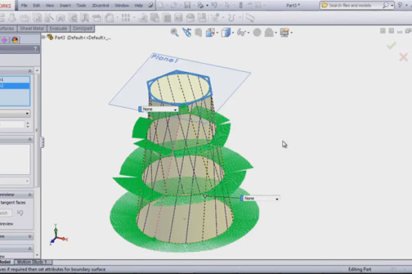 solidworks boundary