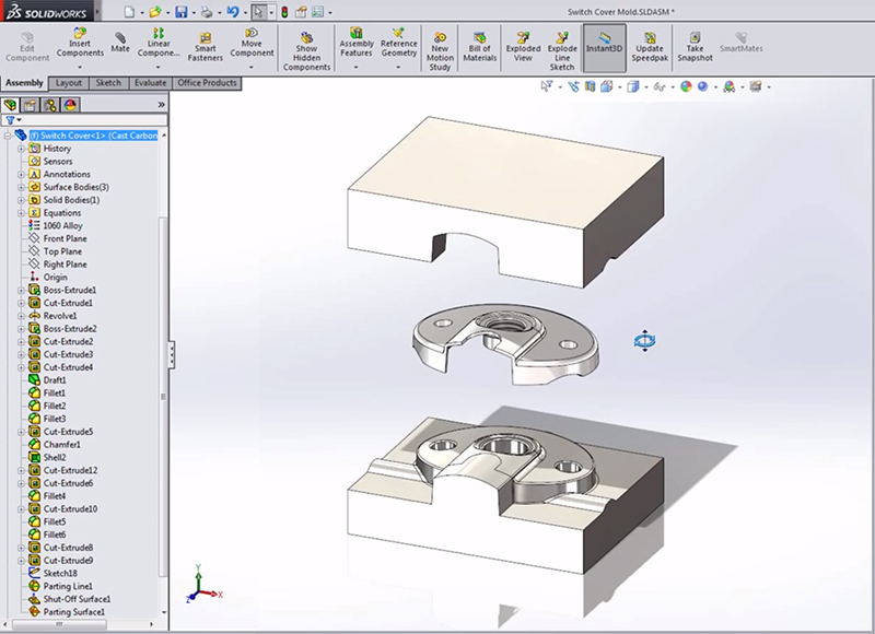 The basics of Mold Tools in SolidWorks    | LearnSOLIDWORKS com