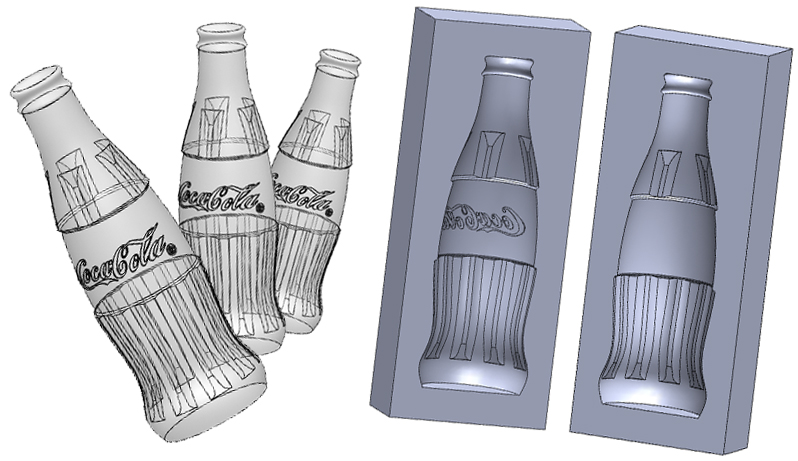 How To Draw A Coke Bottle Mold In Solidworks