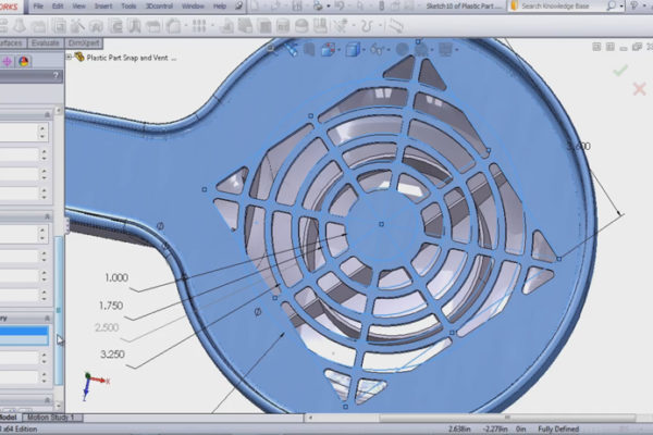 SolidWorks Vents feature