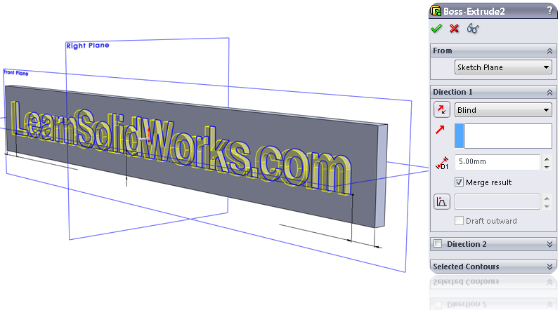 solidworks tutorial extrude sketch 08 How to Draw a Text in SolidWorks?