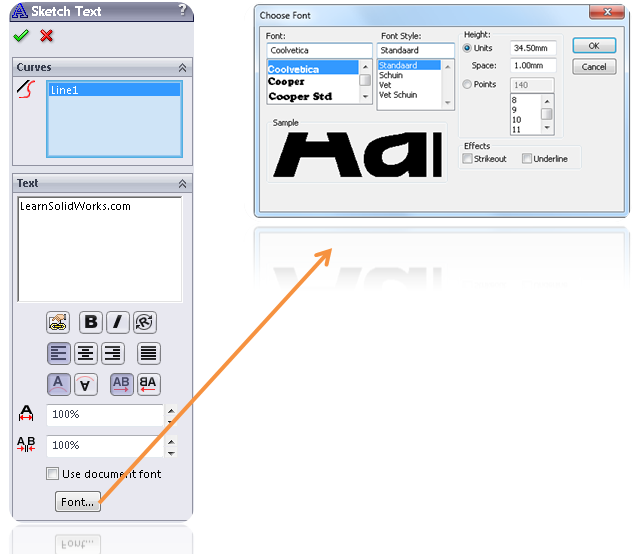 How to Draw a Text in SolidWorks? | LearnSOLIDWORKS com