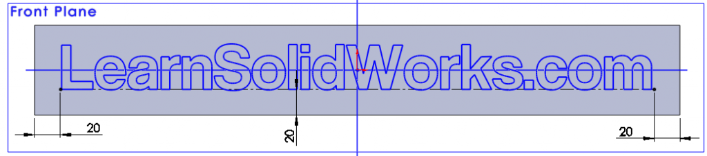 solidworks tutorial text sketch 07 1024x227 How to Draw a Text in SolidWorks?