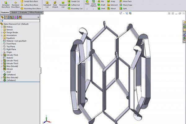 SolidWorks Stator Coil